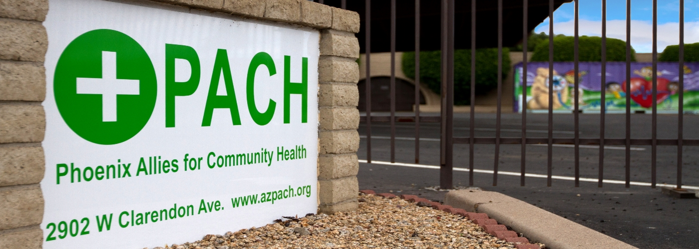 Photo of the PACH sign outside the clinic