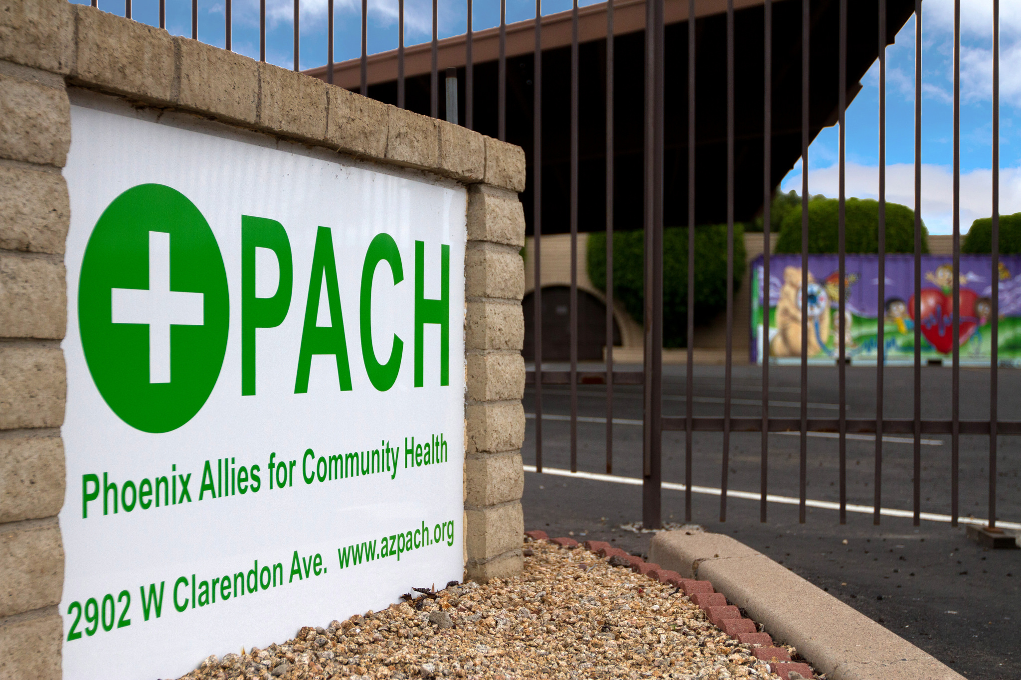 PACH sign at entrance to clinic